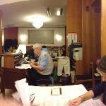 Grand father at the desk