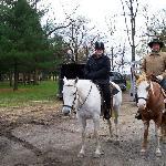 Gettysburg Battlefield horseback tour.