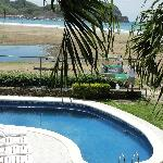 view from terrace - pool and beach
