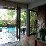 Amra Villa with the doors opened up