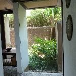 Amra Villa walkway to the bathroom