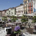 Unsere schöne Terrasse auf der Piazza Grande