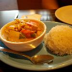 Red Curry had plenty of white rice to go with it.