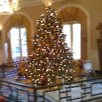 Christmas scene in lobby area