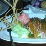 pan seared sesame seed ahi tuna and wasabi mash