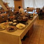 breakfast area - mostly Japanese but has eggs, bread etc. Plenty of choices.
