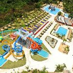 Aerial view of part of the waterpark