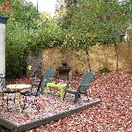 Patio space...lots of leaves!