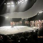 The stage as actors take a bow at end of 'Warhorse""