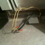 air conditioner wiring in room.