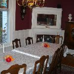 The dining room/breakfast area!