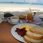 Beat this. Big breakfast w/ view