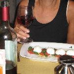 Caprece salad - fresh tomatoes and mozzarella di bufala