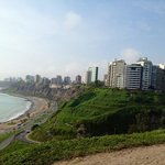 view of lima, walking througt The Malevon