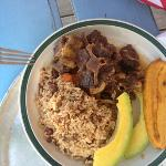oxtail and rice peas