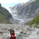 At foot of the glacier