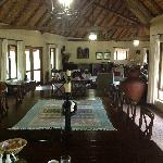 Main lodge, main dining table in foreground