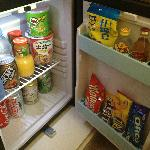 Bar fridge - these items aren't free!