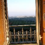 Uno scorcio del Panorama sui Castelli Romani dal B&B Il Mosaico