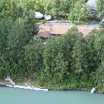 Aerial View of Lodge from River
