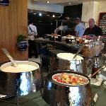 Buffet breakfast with a small but good range of food.