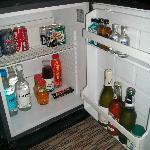mini bar with free soft drinks and snacks