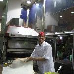 Egytian pancake beeing made at GAD