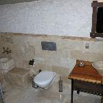 bathroom of room 504 comes with turkish marble basin