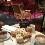 Light afternoon tea in the Rose Lounge