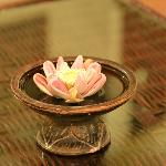 Hand folding flower
