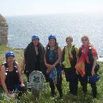 group coasteering at dancing ledge!
