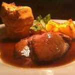 Sunday lunch, local roast beef