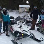 Snowmobiling with NEK Adventures
