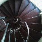 Sprial staircase in hotel
