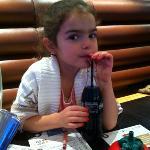 my daughter enjoying her meal