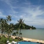 udsigt over pool og strand