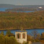 The view from the Belvedere over the Wannsee and forest to Berlin