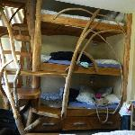 triple drift wood bunk beds