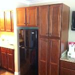 Full Size refrigerator and cabintets in 236, 237 and 109