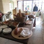 breakfast buffet in the terrace room.