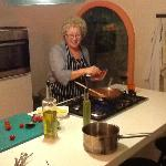 Becoming a little bit Italian mumma - in the very cute attached kitchen/cookhouse!hed