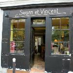 La façade du restaurant Swann et Vincent