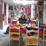 Desayunador, conserva parte de una casa inca