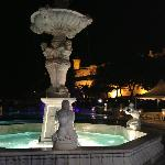 Plaza fountain