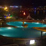 Swimmong pool at night