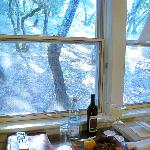 Hillside room, with such view? Nice to have fruit and wine in room