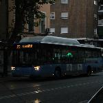 Linha de onibus que leva e traz do hotel ao Centro