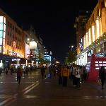 Wangfujing Shopping Street at night