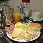 Continental Breakfast Items from the Buffet