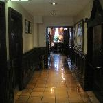 Ground floor corridor to restaurant, bar, toilets, etc.